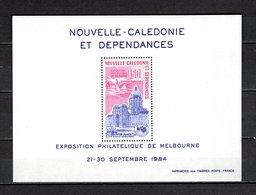 NOUVELLE CALEDONIE  BLOC N° 8  NEUF SANS CHARNIERE COTE  8.00€ EXPOSITION PHILATELIQUE  MONUMENT - Blocks & Sheetlets