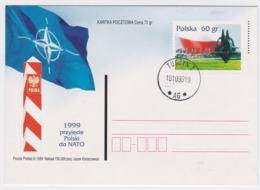 Poland  1999 Postal Stationary NATO New Memberstate: Poland - Used  (T12-19) - Militaria