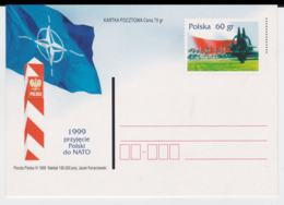 Poland  1999 Postal Stationary NATO New Memberstate: Poland - Mint (T12-19) - Militaria