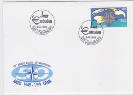 Luxembourg  1999 FDC NATO 50 Years (T12-19) - Militaria
