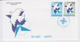 Albania   1999 FDC NATO 50 Years (T12-19) - Militaria