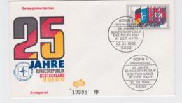 Germany 1980 FDC 25 Jahre Bundesrepublik Deutschland In Der NATO (T10-3) - Militaria