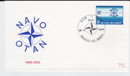 Belgium FDC 1974 25 Years NATO  (T10-3) - Militaria