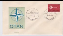 Luxembourg 1969 FDC NATO 20 Years  (T10-3) - Militaria