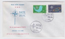Turkey 1969 FDC NATO 20 Years  (T10-3) - Militaria
