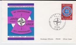Belgium  1969 FDC NATO 20 Years  (T10-3) - Militaria