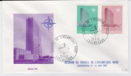 Luxembourg FDC 1967 Reunion Du Conseil De L'Atlantique Nord  (T10-3) - Militaria