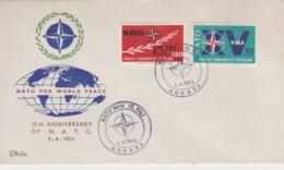 Turkey FDC 1964 15 Years NATO  (T10-3) - Militaria