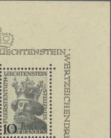 """Liechtenstein 1946: """"Landes-Patron St.Luzius"""" (10 FRANKEN) Zu 206 Mi 247 Yv 222 Bogenecke Marginal ** MNH (Zu CHF 55.00) - Liechtenstein"""