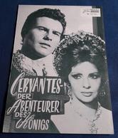 """Gina Lollobrigida, Horst Buchholz > """"CERVANTES - Der Abenteurer Des Königs"""" > Altes NFP-Filmprogramm '1968 (fp367) - Zeitschriften"""