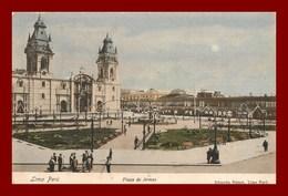 Pérou * Lima * Plaza De Armas   *  ( Scan Recto Et Verso ) - Peru