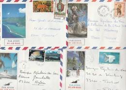 POLYNESIE LOT DE 8 LETTRES PERIODE 1983-86 FAAA - VAITAPE-TARAVAO-PIRAE - POUR TOULON - Polynésie Française