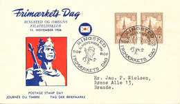 Denmark Cover Stamp's Day Ringstesd 17-11-1956 - Stamp's Day