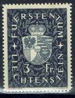 Liechtenstein Landes-Wappen 1939: Zu 148 Mi 184 Yv 159 * Falzspur Trace MLH (Zumstein CHF 15.00 - 50%) - Timbres