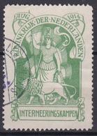 PAYS-BAS - Timbre De Franchise N°1 -  1916 - Camps D'internement - Oblitéré - Côté 200€ - 1891-1948 (Wilhelmine)