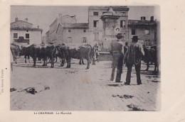 LE CHAMBON          LE MARCHE.   LES VACHES - Le Chambon Feugerolles