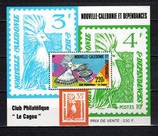 NOUVELLE CALEDONIE  BLOC N° 7  NEUF SANS CHARNIERE COTE  9.00€ CLUB PHILATELIQUE  OISEAUX ANIMAUX CAGOU - Blocks & Sheetlets