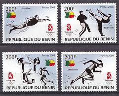 Olympics 2008 - Olympiques - Taekwondo - BENIN - Set MNH - Summer 2008: Beijing
