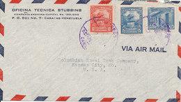 Venezuela Air Mail Cover Sent To USA - Venezuela