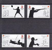 Olympics 2008 - Olympiques - Table Tennis - SINGAPUR - Set MNH - Summer 2008: Beijing