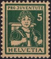 SUISSE SCHWEIZ SWITZERLAND Poste 152 ** MNH Jeune Bernoise 1916 (CV 40 €) - Svizzera