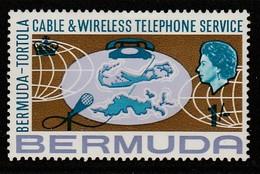 Bermuda 1967 Inauguration Of Bermuda-Tortola Telephone Service 1 Sh Multicoloured  SW 207 * MM - Bermuda