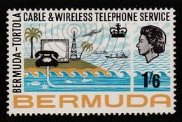 Bermuda 1967 Inauguration Of Bermuda-Tortola Telephone Service 1'6 Sh P Multicoloured  SW 208 * MM - Bermuda