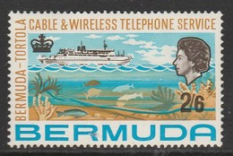 Bermuda 1967 Inauguration Of Bermuda-Tortola Telephone Service 2'6 Sh P Multicoloured  SW 209 * MM - Bermuda