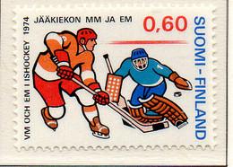 PIA - FINLANDIA - 1974 : Campionati Del Mondo Di Hochey Su Ghiaccio - (Yv 711) - Hockey (su Ghiaccio)