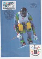 Austria Large Maxicard 1994 Olympic Games Lillehammer (LAR5-66) - Winter 1994: Lillehammer