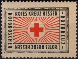 ALLEMAGNE DEUTSCHLAND ** MNH : Rotes Kreuz Hessen Rotkreuz 10 Pfennig Croix-Rouge Red Cross Cinderella Vignette - Cinderellas
