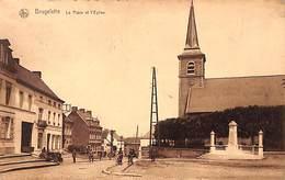 Brugelette - La Place Et L'Eglise (animée, Tracteur, Edit. J. Dejonck 1927) - Brugelette