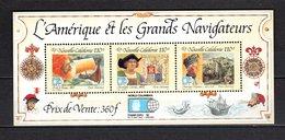 NOUVELLE CALEDONIE  BLOC N° 14  NEUF SANS CHARNIERE COTE  11.00€  NAVIGATEUR BATEAUX - Blocks & Sheetlets