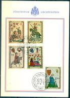 Liechtenstein 1961: Minnesänger / Ménestrels Zu 349-353 Mi 406-410 Yv 359-363 FDC-Karte O VADUZ 30.5.1961 (Zu CHF 45.00) - FDC
