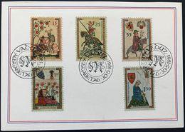 Liechtenstein 1961: Minnesänger / Ménestrels Zu 349-353 Mi 406-410 Yv 359-363 FDC-Karte O VADUZ 30.5.1961 (Zu CHF 45.00) - Musique