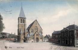 Ittre - Grand' Place (colorisée, Edition J. Marlière, 1910) - Ittre