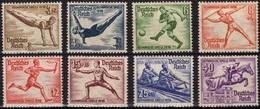 ALLEMAGNE DEUTSCHES III REICH 565 à 572 * MLH Jeux Olympiques 1936 à Berlin Foot Kayak Escrime (CV 33,20 €) - Germany