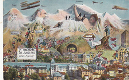 Interlaken In Der Zukunft - Hotel Stempel - 1912    (P-66-71102) - BE Berne