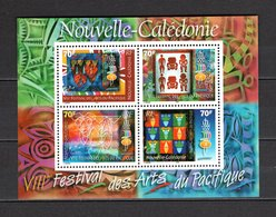 NOUVELLE CALEDONIE  BLOC N° 24  NEUF SANS CHARNIERE COTE  6.00€    ARTS DU PACIFIQUE - Blocks & Sheetlets