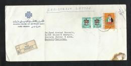 United Arab Emirates Registered Air Mail Postal Used Cover Dubai To Pakistan  Eagle Birds Animal - Abu Dhabi
