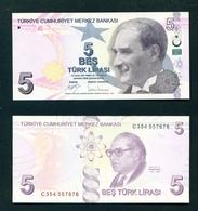 TURKEY - 2009 (2017 Signatures) 5 Lira UNC - Turkey
