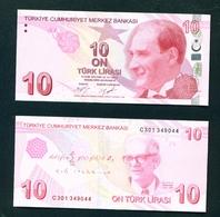 TURKEY - 2009 (2017 Signatures) 10 Lira UNC - Turkey