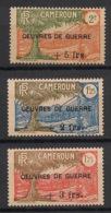 Cameroun - 1940 - N°Yv. 233 à 235 - Oeuvres De Guerre - Série Complète - Neuf GC ** / MNH / Postfrisch - Neufs