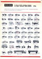 Catalogue WIKING Miniatur-Modelle HO Größe 1976 Mini-Modelle N 1/160 - Livres Et Magazines