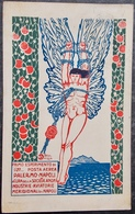 ITALY ITALIA Cartolina 1917 POSTA AERIA - Palermo - Napoli Idrovolante Napoli-Palermo-Napoli - Philately - Italia