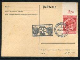 """Deutsches Reich / 1940 / Mi. 744 OR A. Postkarte, SSt. Nuernberg """"Geburtstag Des Fuehrers"""" (15011) - Germania"""