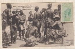 9AL1340 GUINEE AFRIQUE OCCIDENTALE DANSES INDIGENES PEUPLADES TRES PRIMITIVES 1924 2 SCANS - Frans Guinee