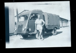 Négatif Photo Renault Goelette Militaire Algérie - Cars