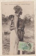 9AL1341 GUINEE AFRIQUE OCCIDENTALE FEMME SAUSSAI 1924 2 SCANS - Guinée Française