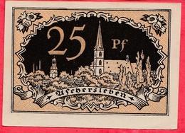 Allemagne 1 Notgeld De 25 Pfenning  Stadt Aschersleben Dans L 'état  N °3872 - [ 3] 1918-1933 : République De Weimar